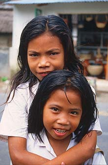 Mataram Lombok two girls from Penujak viillage 1