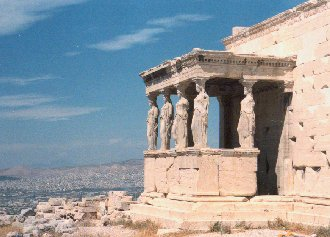 Acropolis: Caryatids, the six maidens who take the place of columns