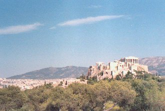 Athens: Acropolis, crowned by the Parthenon
