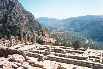 Delphi Apollo Temple panorama