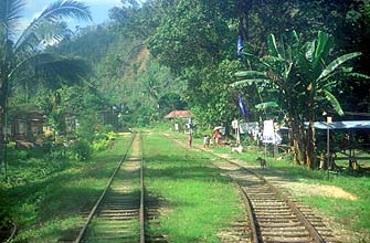 Train Beaufort-Tenom station in small village