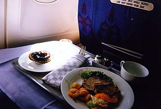 Thai Airways Business Class Meal on a flight Chiang Mai-Bangkok