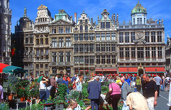 Brussels Grand Place facade 1