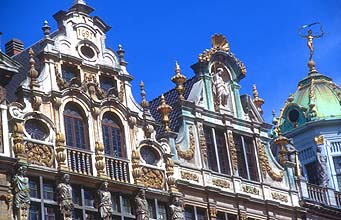 Brussels Grand Place upper facade 1