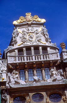 Brussels Grand Place upper facade 2