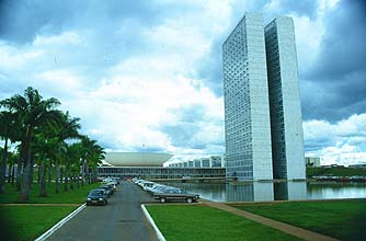 Brasilia, the capital: The Parliament building