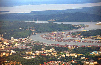 Brunei Bandar Seri Begawan from aircraft 1