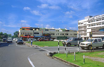 Brunei Seria town center with Plaza Seria market
