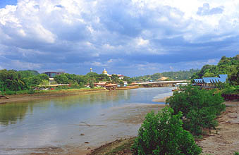 Brunei bridge over the Sungai Kedayan river
