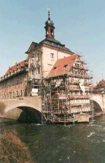 Old town hall in the Regnitz-river
