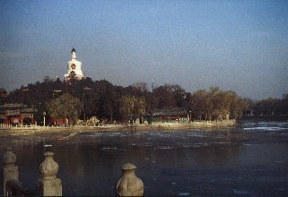 Beijing, Jade islet in Beihai Park, dominated by the White Dagoba