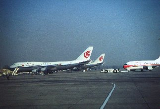 Beijing Capital International Airport China Airlines Boeing 747-400