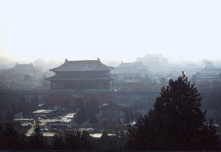 Beijing forbidden city panorama