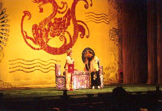 Beijing Opera performance in the Liyuan Theatre