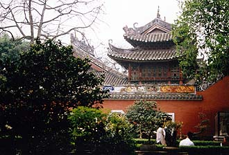 Temple in Southern China, near Canton (Guangzhou)