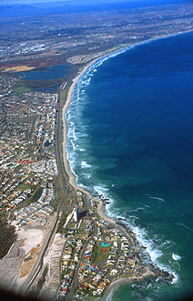 Bloubergstrand from aircraft