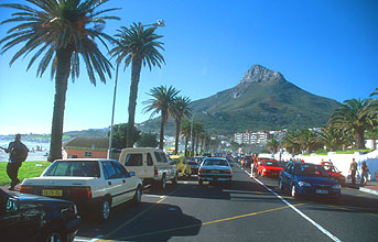 Camps Bay beach with Lions Head