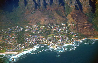Camps Bay from aircraft