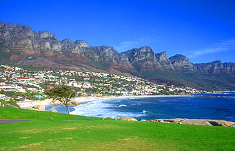 Cape Town Camps Bay beach with Twelve Apostles