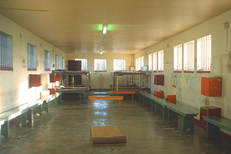 Cape Town Robben Island maximum security prison interior