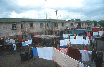 Cape Town Township houses and washing on the line