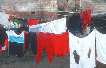 Cape Town Townships washing on the line