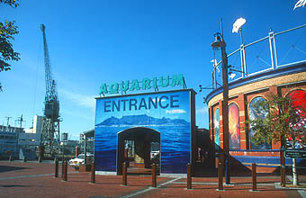Cape Town Waterfront Two Oceans Aquarium entrance