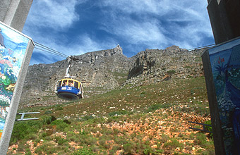 Cape Town cableway to Table Mountain