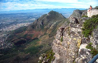 Cape Town panorama from Table Mountain towards Devils Peak