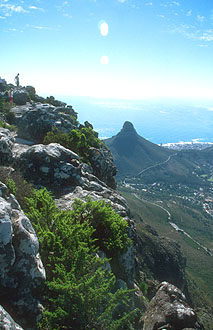 Cape Town with Lions Head from Table Mountain