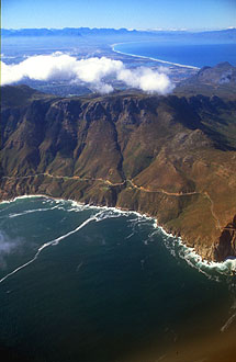 Chapmans Peak drive from aircraft