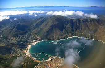 Hout Bay from aircraft