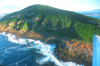 Plettenberg Bay Robberg Peninsula Nature and Marine Reserve from aircraft