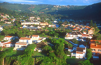 Plettenberg Bay houses from aircraft