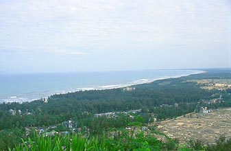 Danang China beach from marble mountains