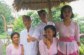 Restaurant staff, Central Bali