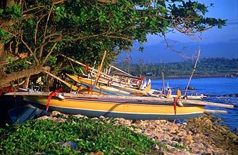 Bali Sanur beach boats