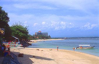 Bali Sanur beach with Bali Beach Hotel