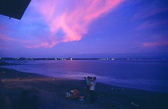 Bali Sanur evening on the beach