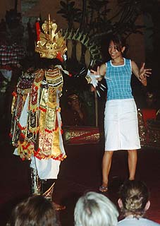 Bali Ubud Barong dance with Taiwanese girl