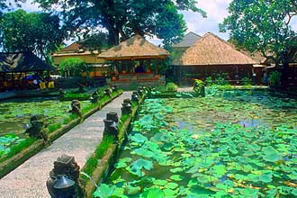 Bali Ubud Lotus Pond Restaurant panorama
