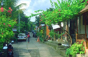 Bali Ubud secondary street near the city center