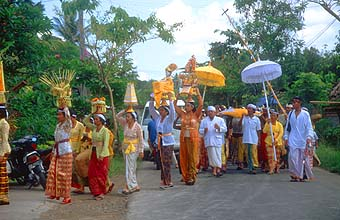 Wedding ceremony near Ubud