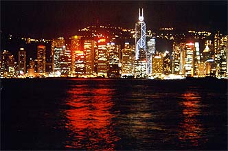 Hong Kong Island Skyline by night