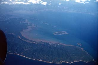 Koh Lanta Island from aircraft