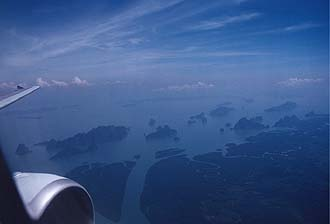 Phang-Nga Bay from aircraft