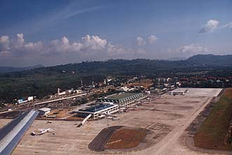 Phuket International Airport from aircraft
