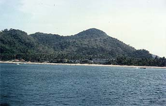 Ao Nang Beach panorama from boat