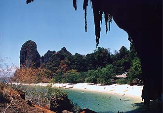 Krabi: Rai Lay Central Beach with rocks