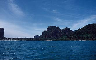 Krabi: Rai Lay Peninsula from East